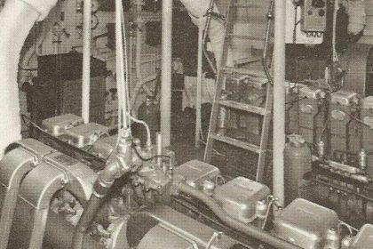 MY Camara C - 8L3B Twin Gardner Diesel Engines - Before